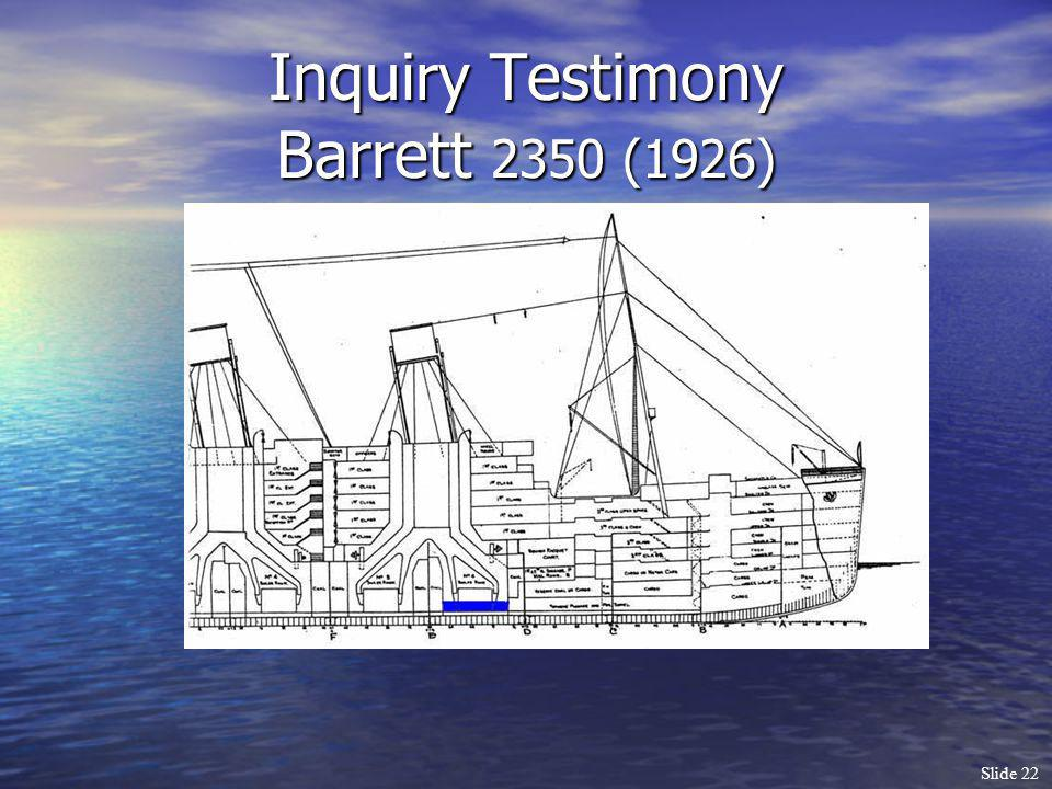 Inquiry Testimony Barrett 2350 (1926)