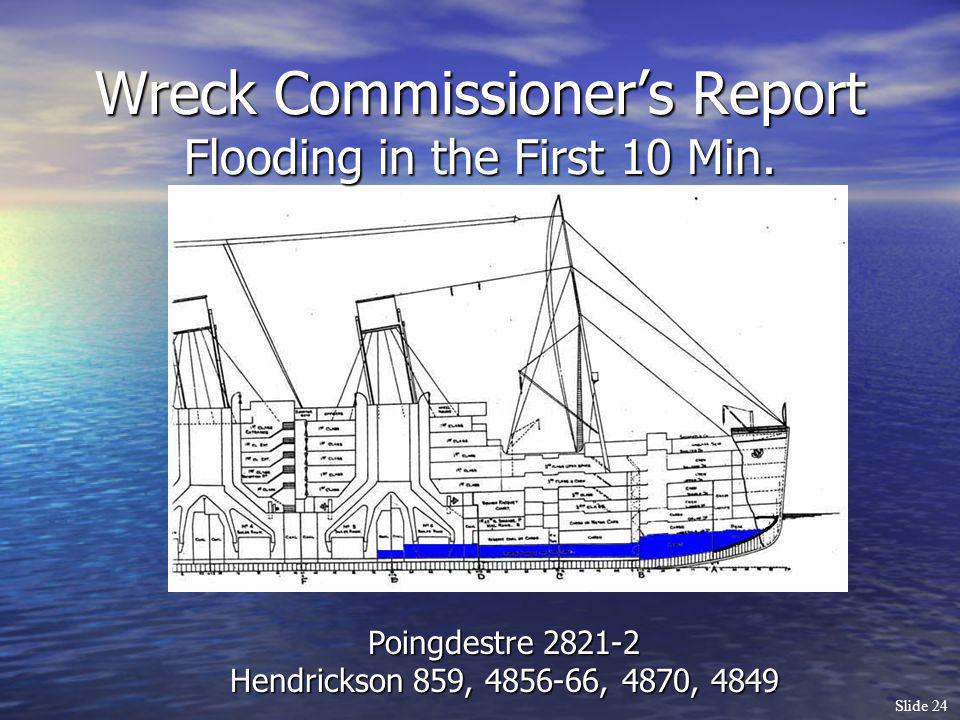 Wreck Commissioner's Report Flooding in the First 10 Min.