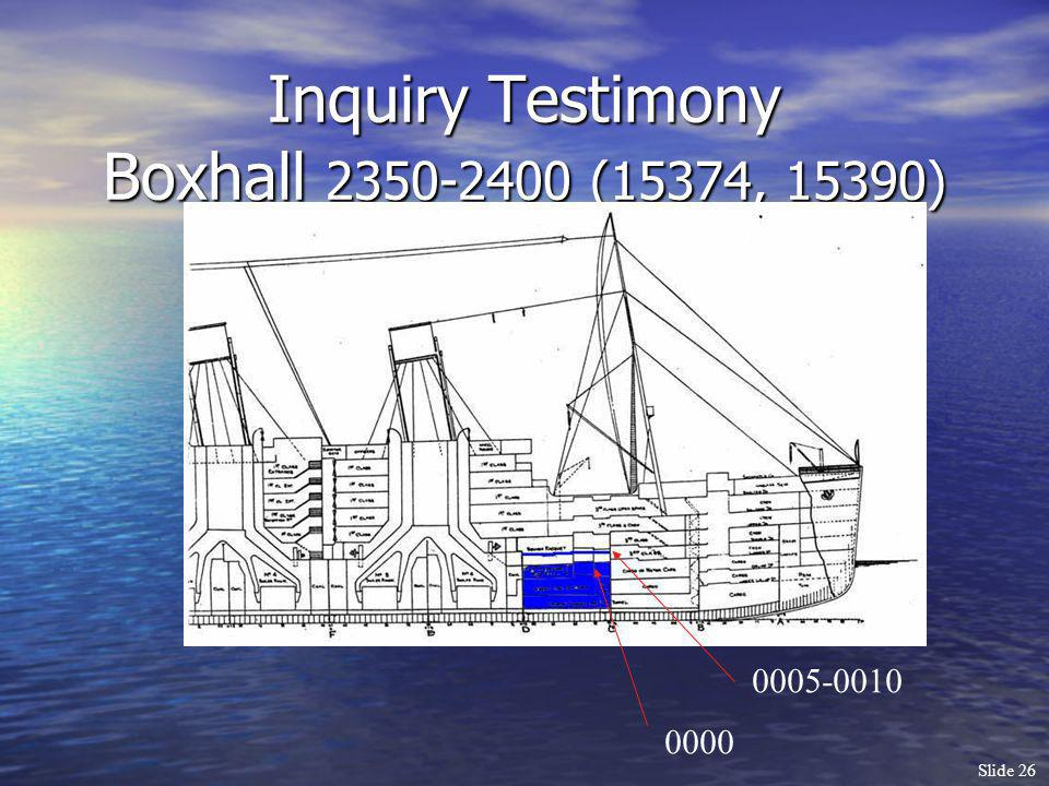 Inquiry Testimony Boxhall 2350-2400 (15374, 15390)