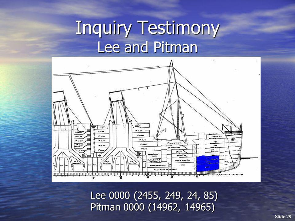 Inquiry Testimony Lee and Pitman