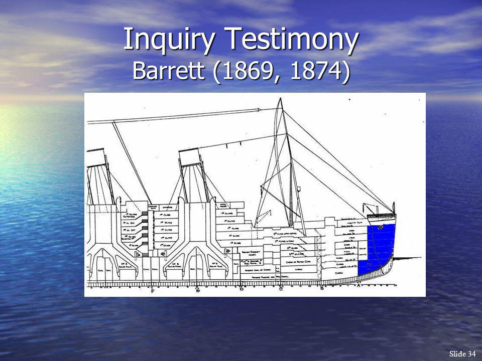 Inquiry Testimony Barrett (1869, 1874)