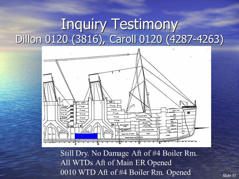 Inquiry Testimony Dillon 0120 (3816), Caroll 0120 (4287-4263)