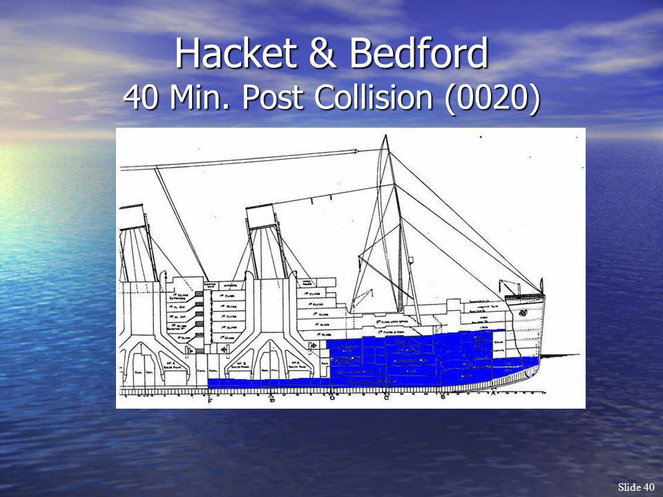 Hacket & Bedford 40 Min. Post Collision (0020)