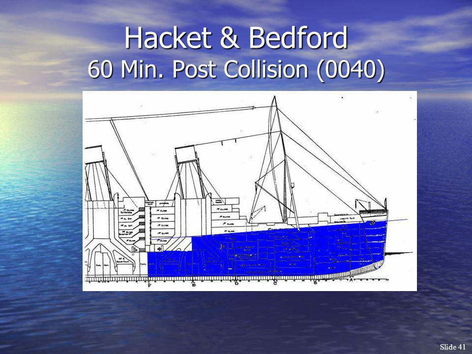 Hacket & Bedford 60 Min. Post Collision (0040)