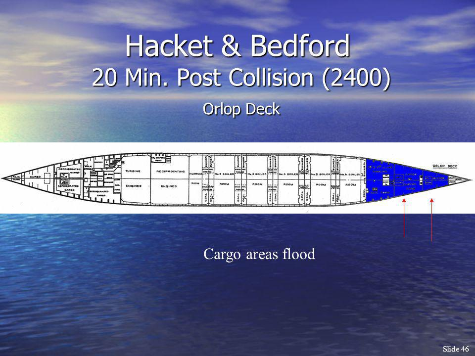 Hacket & Bedford 20 Min. Post Collision (2400) Orlop Deck