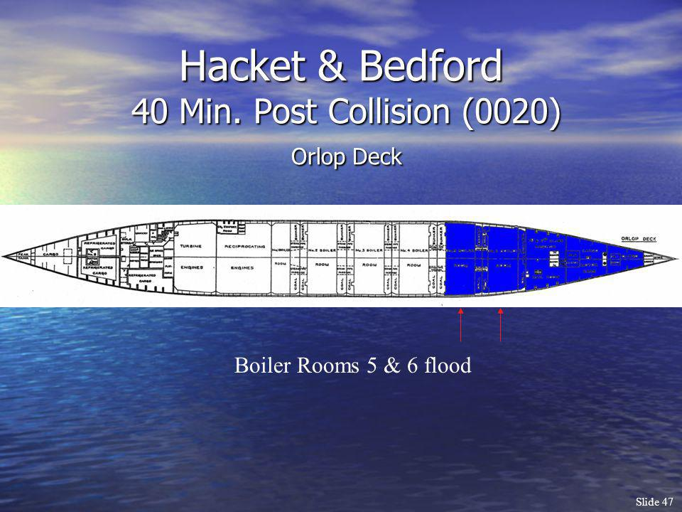 Hacket & Bedford 40 Min. Post Collision (0020) Orlop Deck