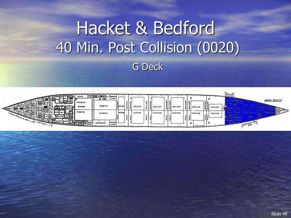 Hacket & Bedford 40 Min. Post Collision (0020) G Deck