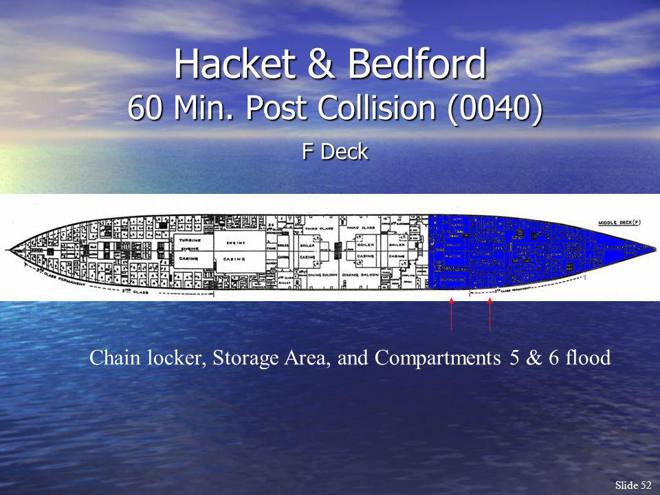 Hacket & Bedford 60 Min. Post Collision (0040) F Deck