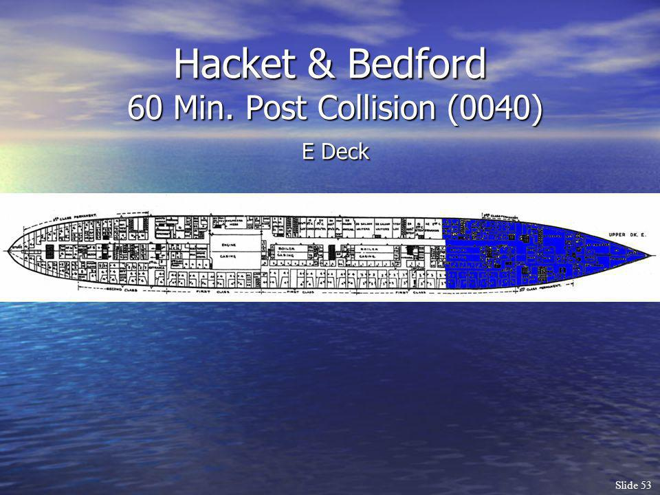 Hacket & Bedford 60 Min. Post Collision (0040) E Deck