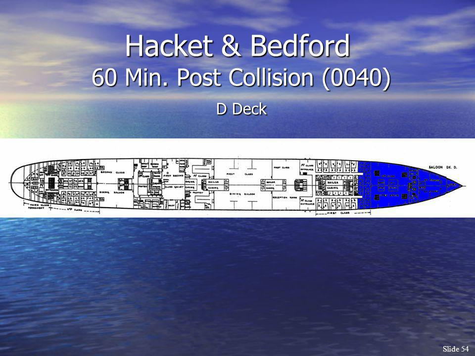 Hacket & Bedford 60 Min. Post Collision (0040) D Deck