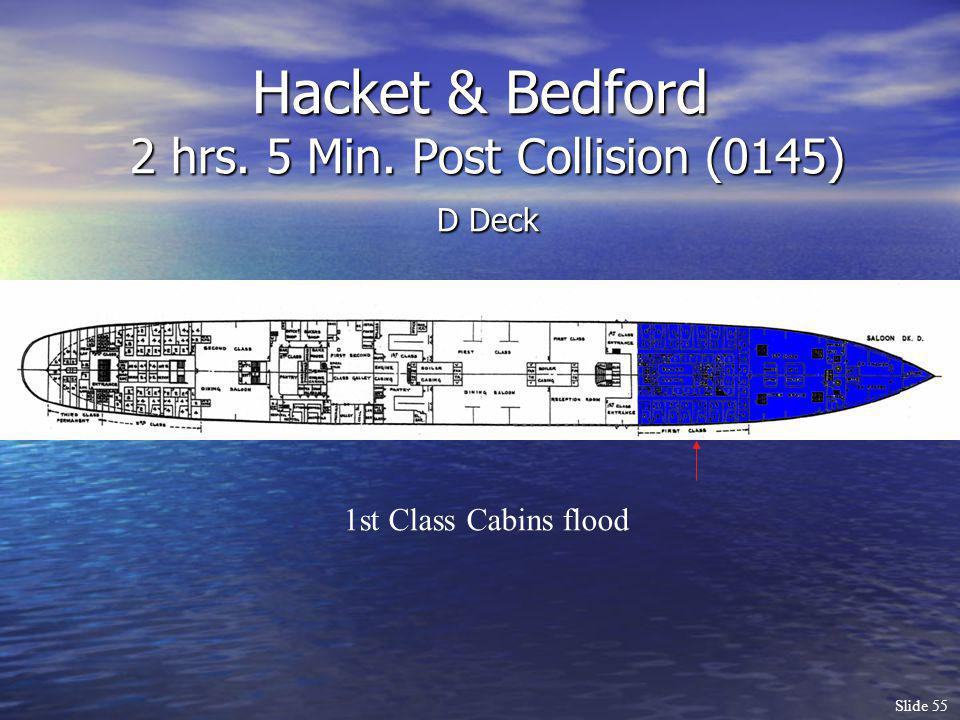 Hacket & Bedford 2 hrs. 5 Min. Post Collision (0145) D Deck