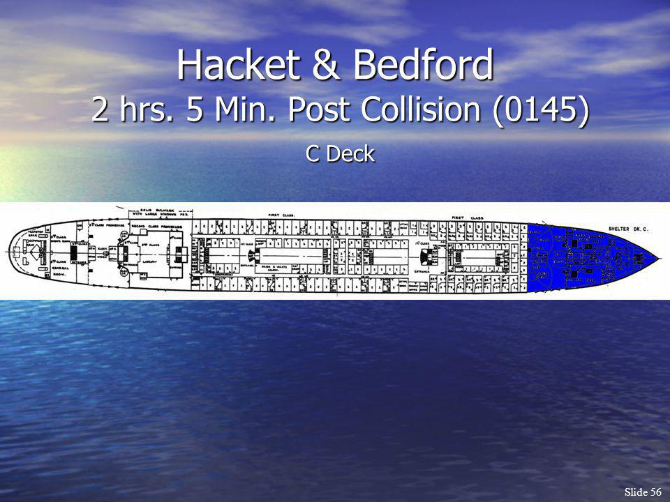 Hacket & Bedford 2 hrs. 5 Min. Post Collision (0145) C Deck