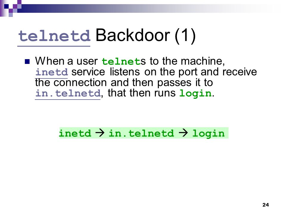 telnetd Backdoor (1)