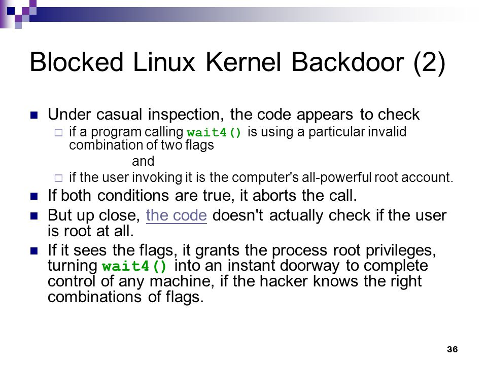 Blocked Linux Kernel Backdoor (2)
