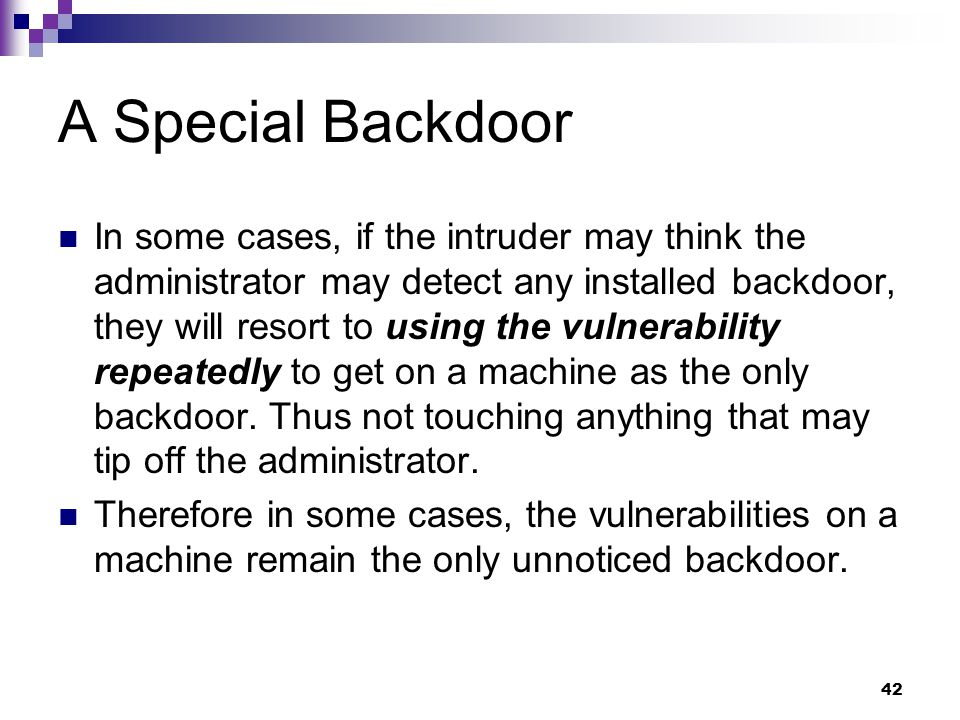 A Special Backdoor