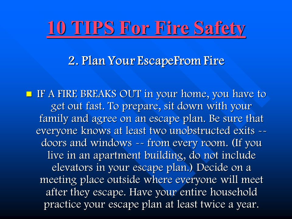 2. Plan Your EscapeFrom Fire