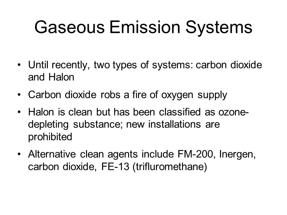 Gaseous Emission Systems