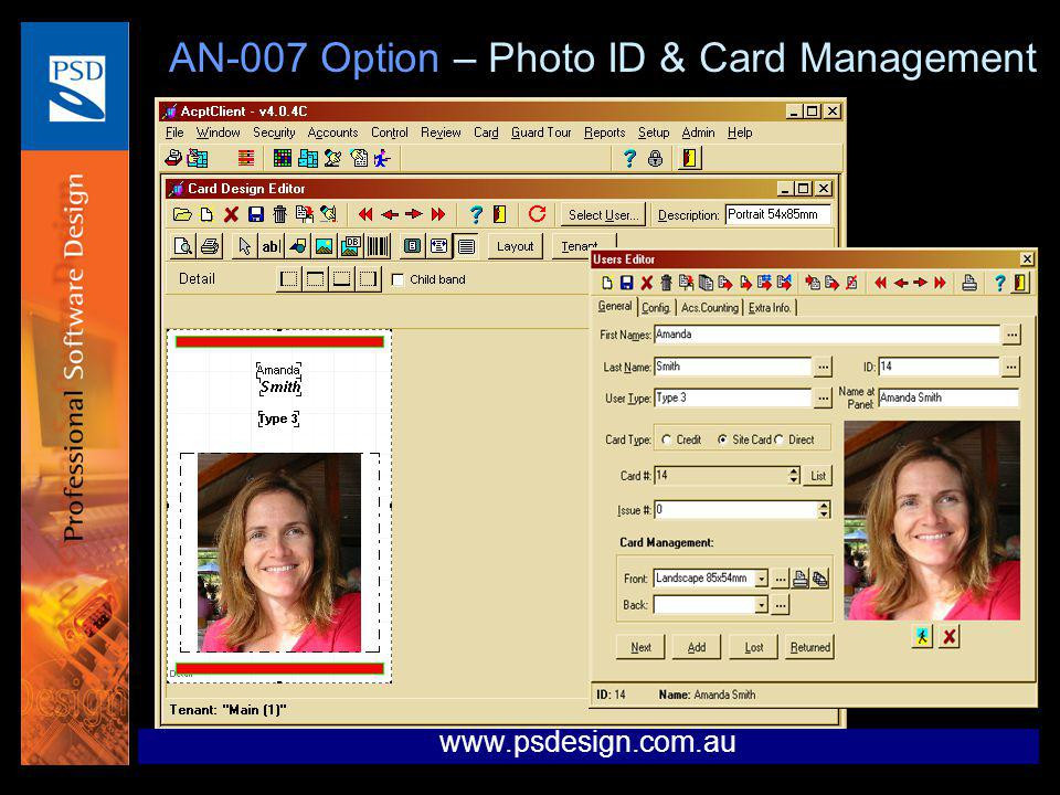 AN-007 Option – Photo ID & Card Management