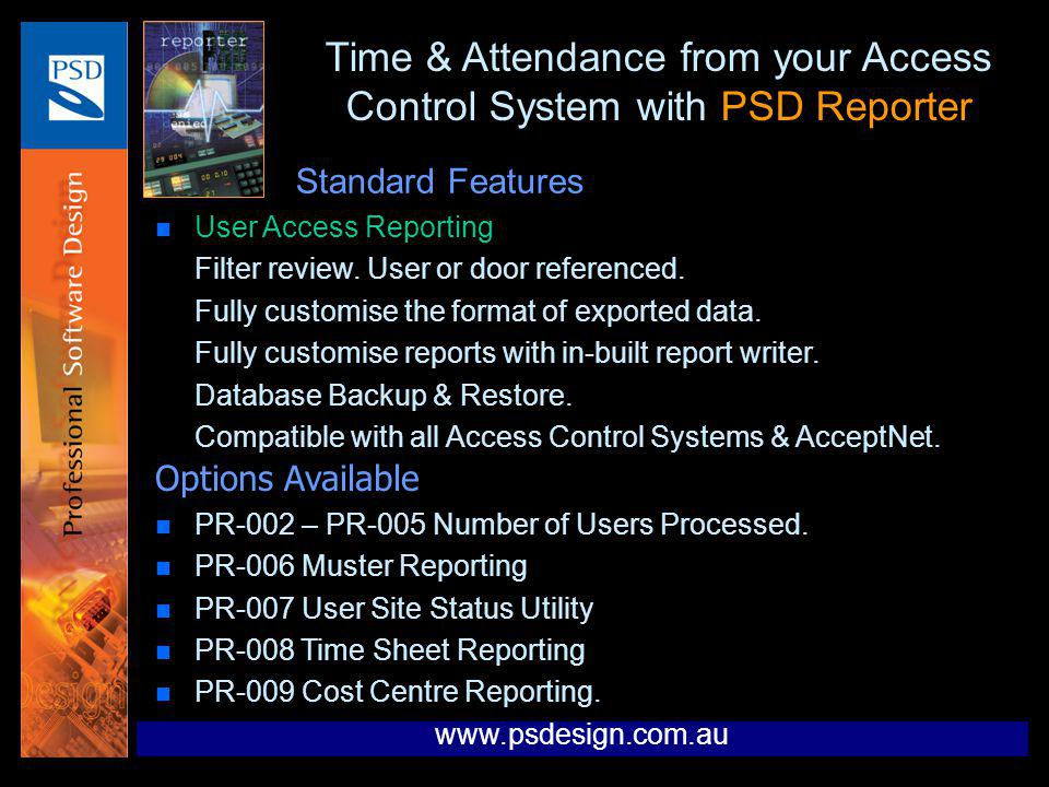 Time & Attendance from your Access Control System with PSD Reporter