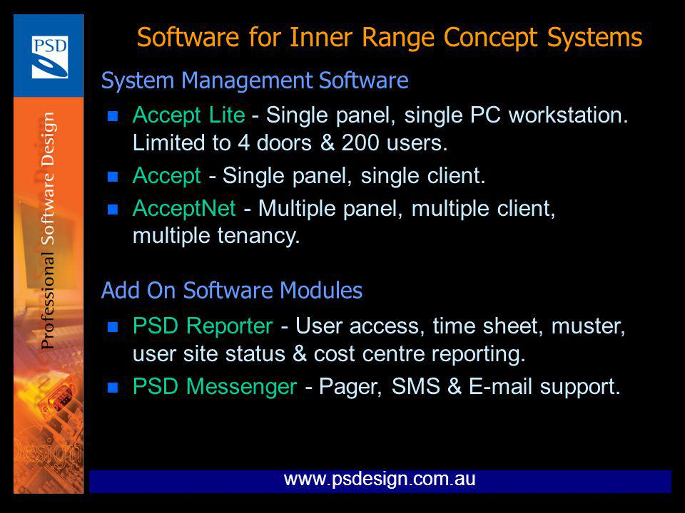 Software for Inner Range Concept Systems