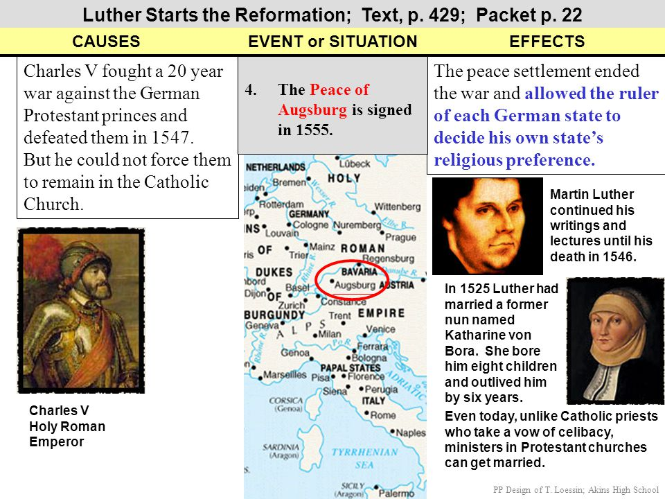 Luther Starts the Reformation; Text, p. 429; Packet p. 22