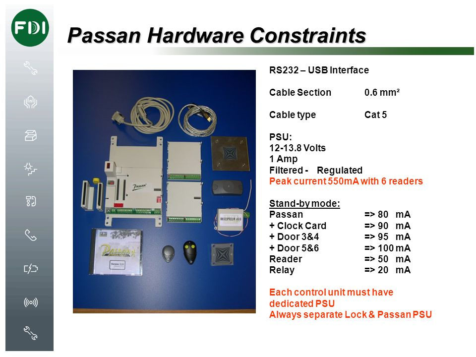 Passan Hardware Constraints