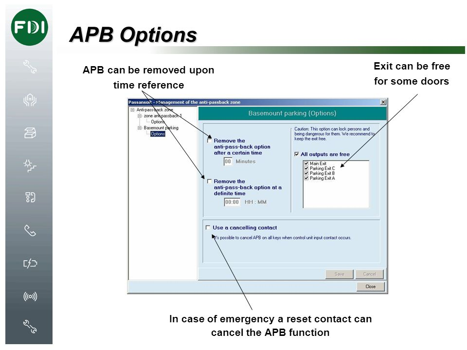 APB Options Exit can be free for some doors
