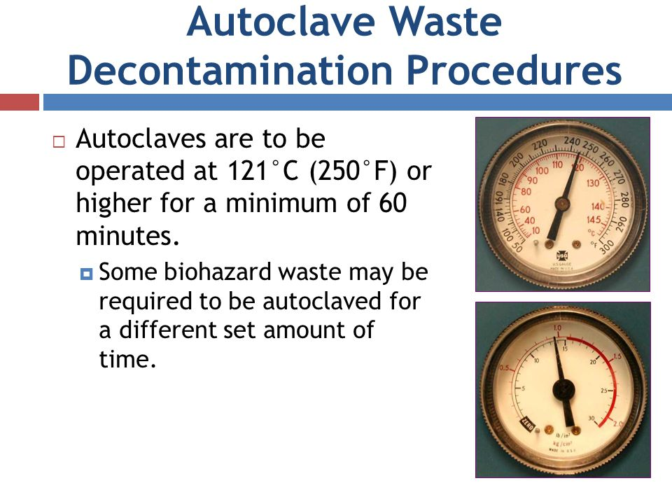 Autoclave Waste Decontamination Procedures
