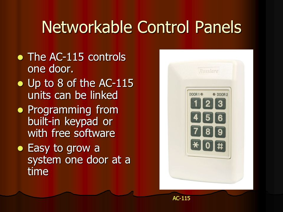 Networkable Control Panels