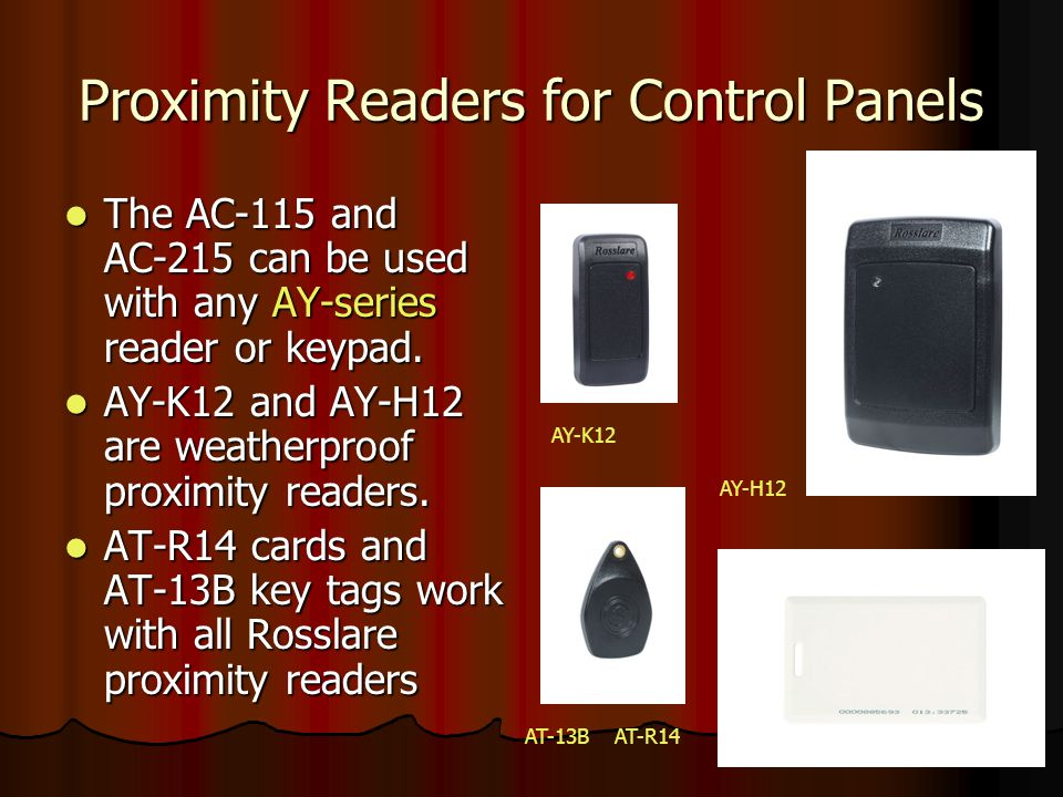 Proximity Readers for Control Panels