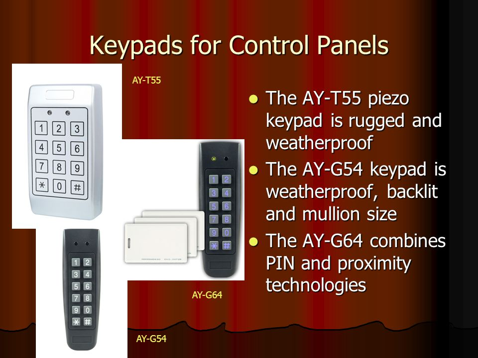 Keypads for Control Panels