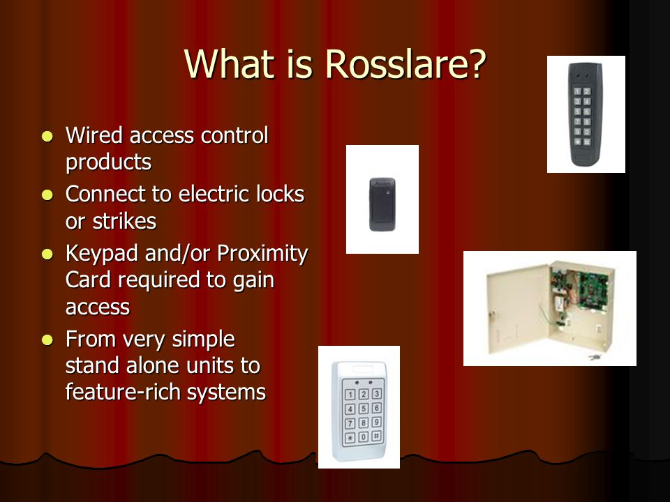 What is Rosslare Wired access control products