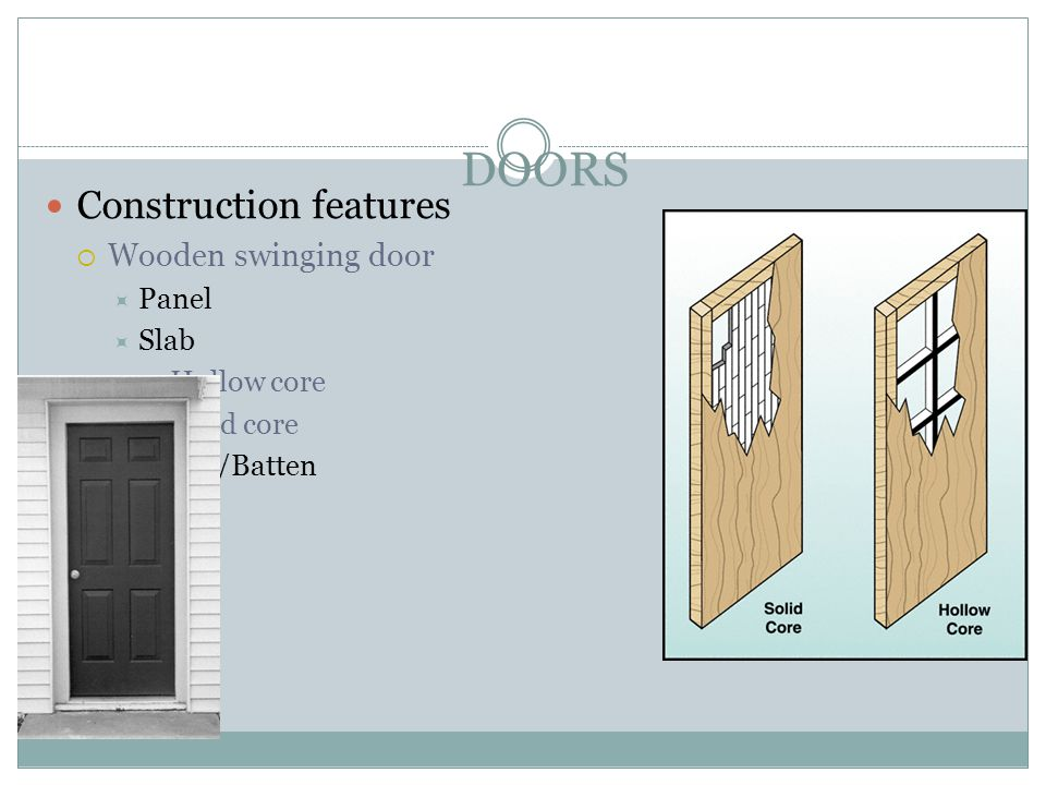 Fvcc fire rescue forcible entry ppt video online download for Solid wood door construction