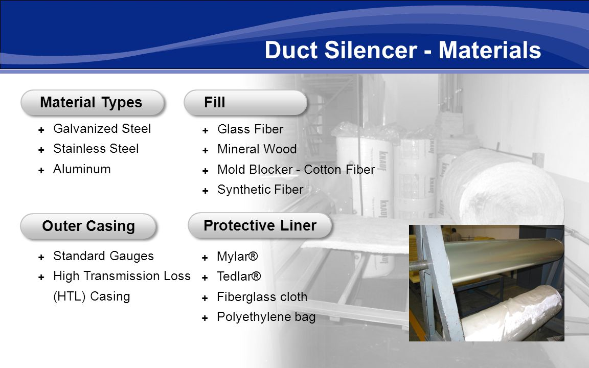 Duct Silencer - Materials