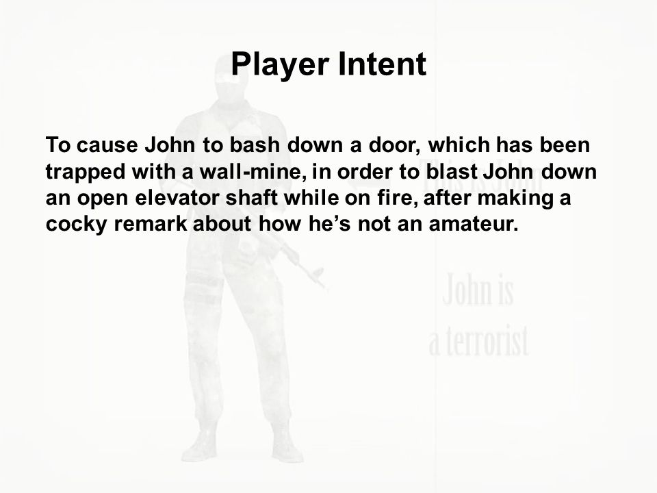 Player Intent
