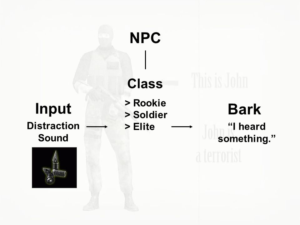 NPC Input Bark Class > Rookie > Soldier Distraction Sound