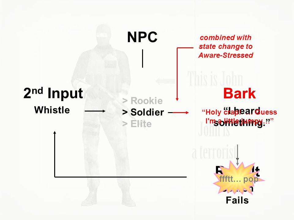 NPC 2nd Input Bark Bark Result