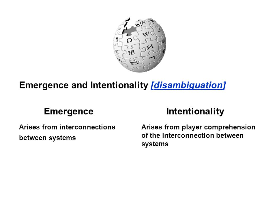 Emergence Intentionality