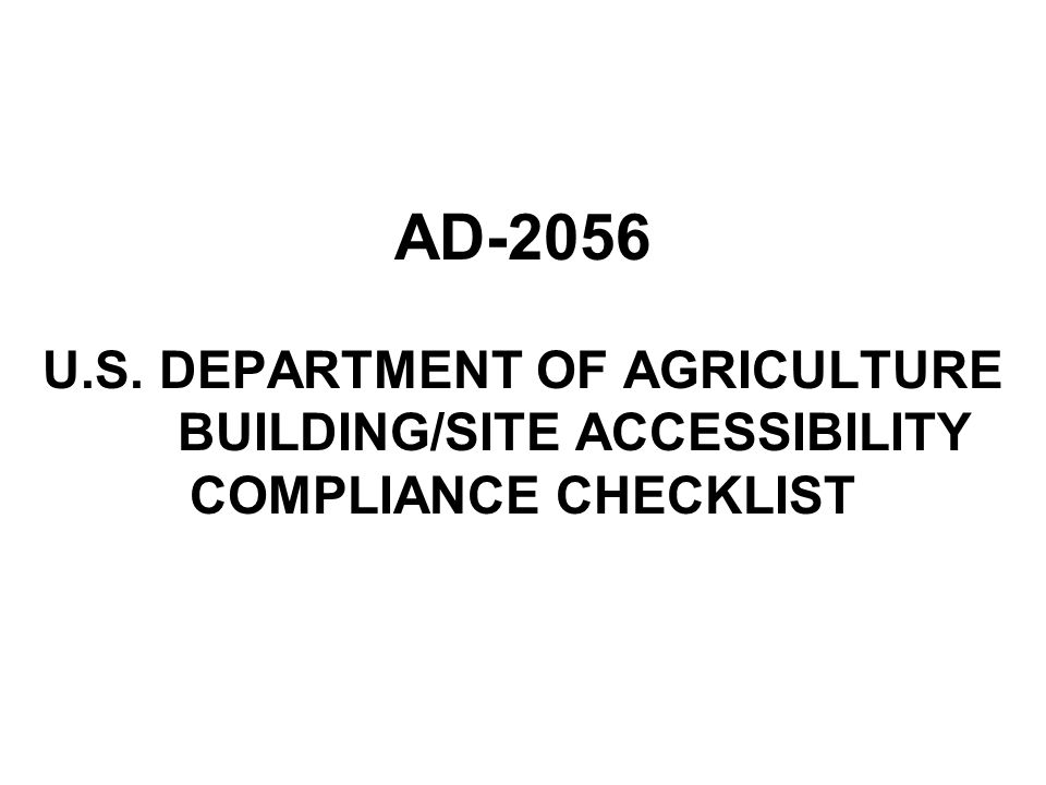 AD-2056. U. S. DEPARTMENT OF AGRICULTURE