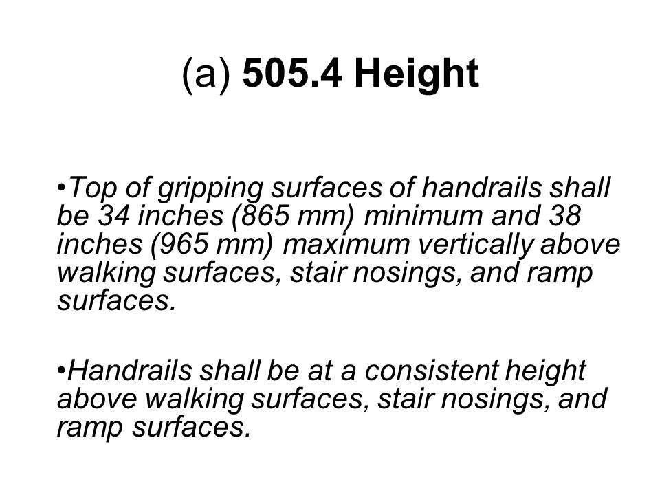 (a) 505.4 Height