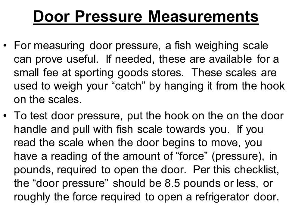 Door Pressure Measurements