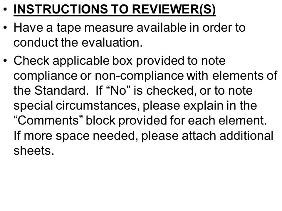 INSTRUCTIONS TO REVIEWER(S)