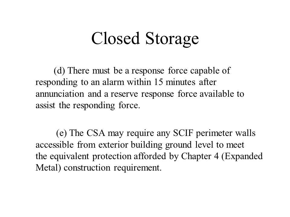 Closed Storage