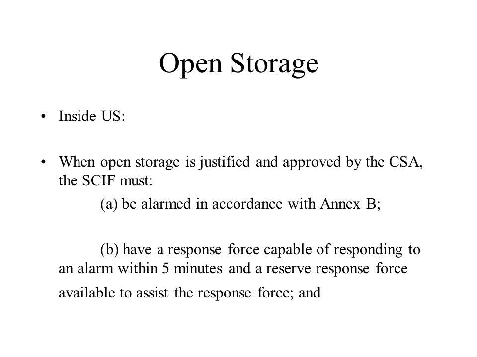 Open Storage Inside US: