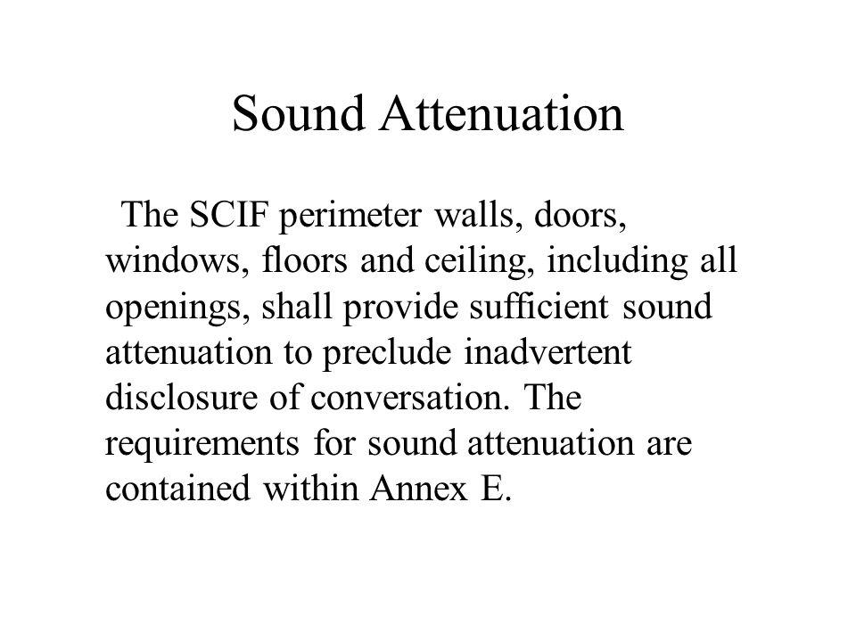 Sound Attenuation