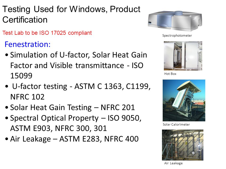 Testing Used for Windows, Product Certification