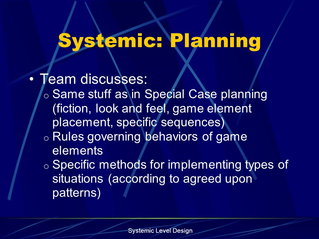 Systemic: Planning Team discusses: