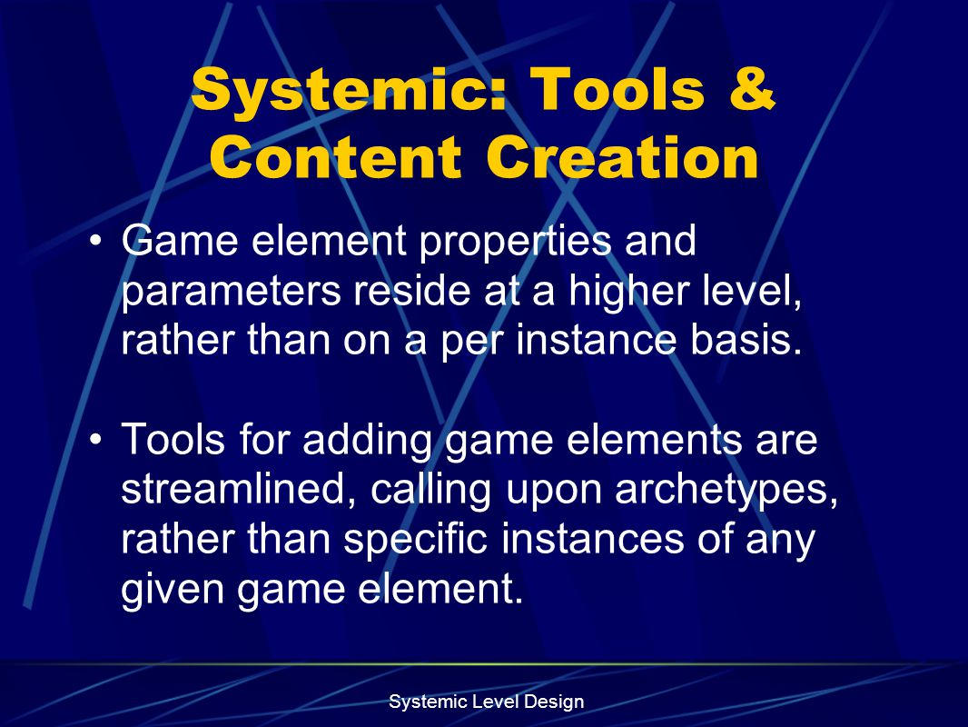 Systemic: Tools & Content Creation