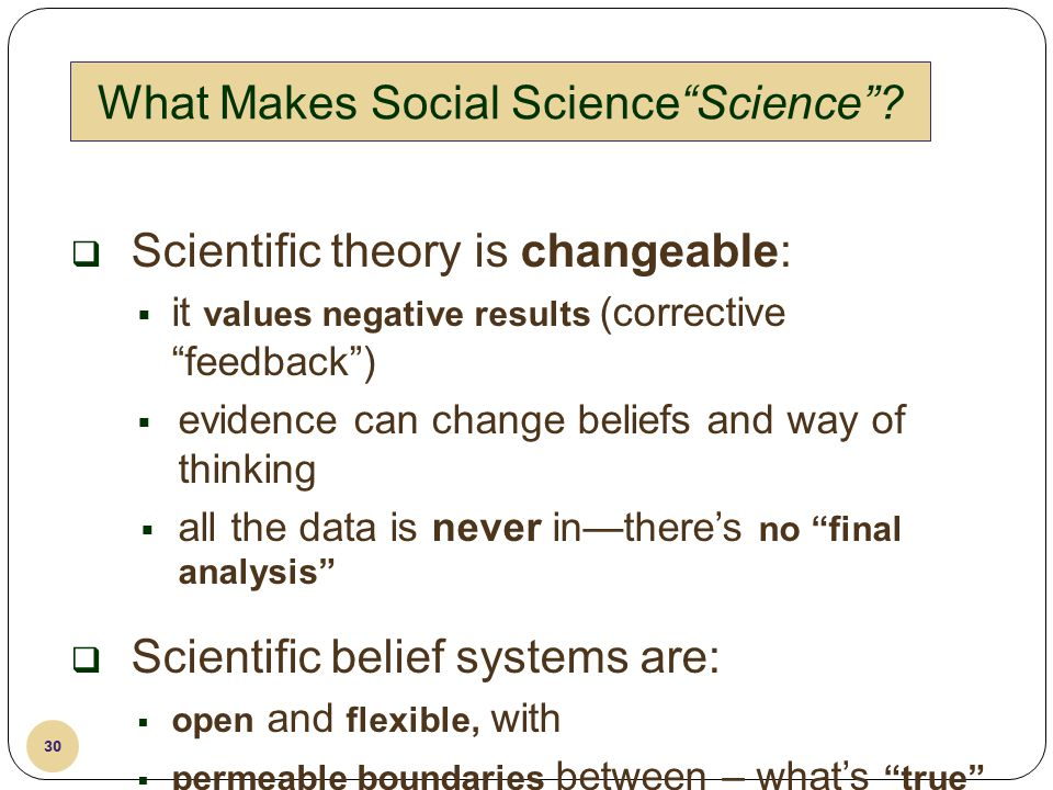 What Makes Social Science Science