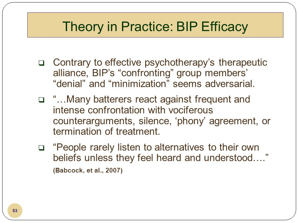 Theory in Practice: BIP Efficacy